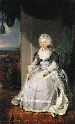 Queen Charlotte, 1789-90, Wife Of George IIi Oil On Canvas Art Print by Sir Thomas Lawrence