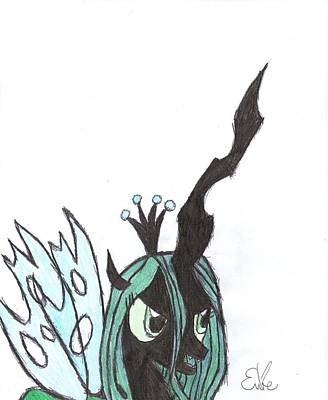 My Little Pony Drawing - Queen Chrysalis by Rhapsody Forever
