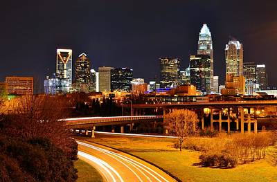 Queen City At Night Art Print