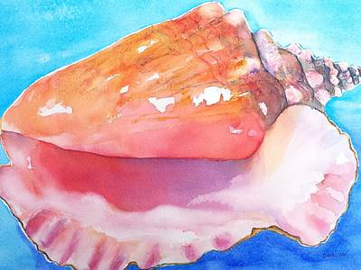 Painting - Queen Conch Shell by Carlin Blahnik CarlinArtWatercolor