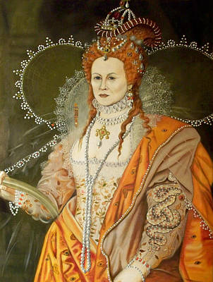 Self Portrait As Queen Elizabeth After Oliver Original by RB McGrath
