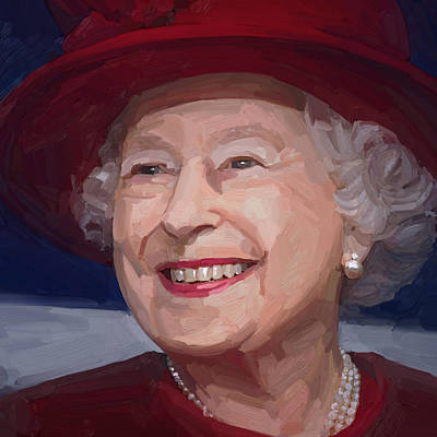 Queen Elizabeth II Art Print by Nop Briex