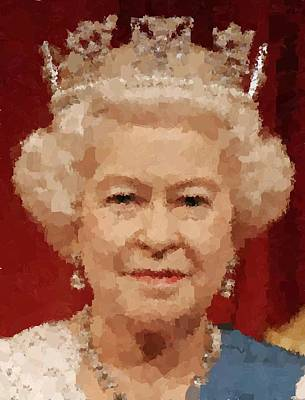 Painting - Queen Elizabeth Il by Samuel Majcen