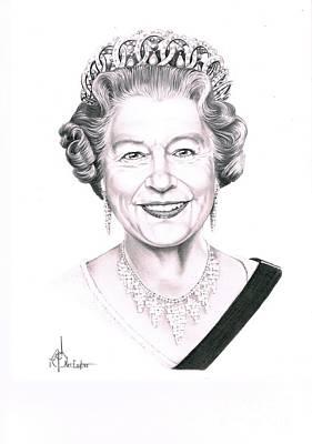 Queen Elizabeth Art Print by Murphy Elliott