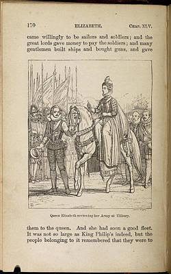 Queen Elizabeth Reviewing Her Army Art Print