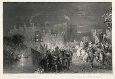Kenilworth Castle Wall Art - Drawing - Queen Elizabeth Visits  Kenilworth by Mary Evans Picture Library
