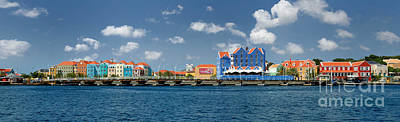 Queen Emma Bridge Open Curacao Print by Amy Cicconi