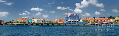 Colonial Photograph - Queen Emma Bridge Open Curacao by Amy Cicconi