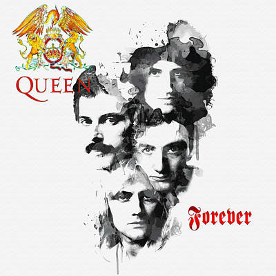 Queen Forever Art Print by Don Kuing