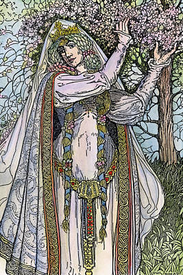 Guinevere Drawing - Queen Guinevere, 1923 by Granger