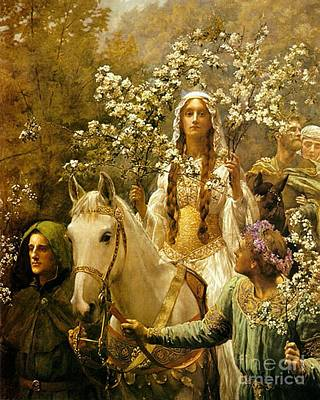 Queen Guinevere - Maying Art Print by Pg Reproductions