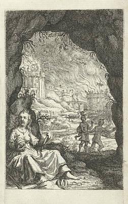 Queen Hidden In A Cave, Willem Basse, Jacob Lescailje Art Print by Willem Basse And Jacob Lescailje