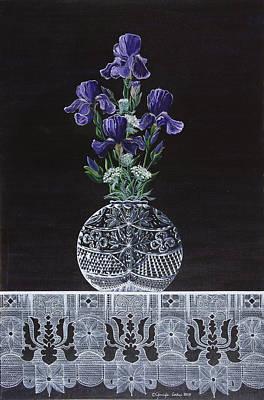 Queen Iris's Lace Art Print