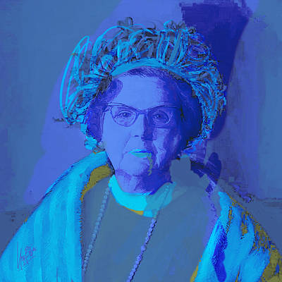 Painting - Queen Juliana Blue by Nop Briex