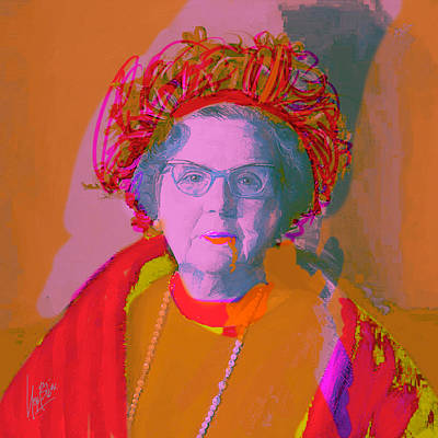 Painting - Queen Juliana Red by Nop Briex