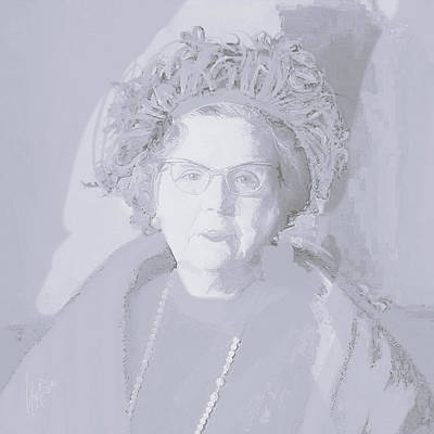 Painting - Queen Juliana White by Nop Briex