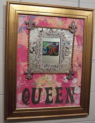 Glass Art - Queen by Krista Ouellette