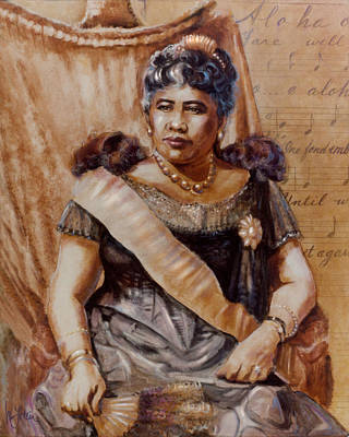 Painting - Queen Liliuokalani by Mary Lovein
