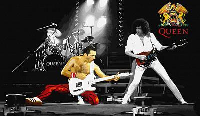 Michael Jackson Digital Art - Queen Live In Concert by Don Kuing