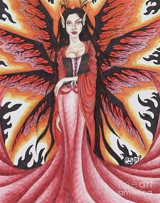 Fey Drawing - Queen Mab by Coriander  Shea