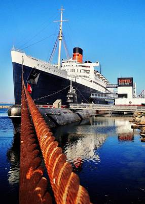 Photograph - Queen Mary 2 by Benjamin Yeager