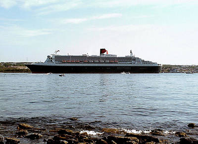 Photograph - Queen Mary 2 Halifax 2004 by George Cousins