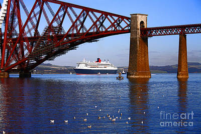 Photograph - Queen Mary At Forth Bridge by Craig B