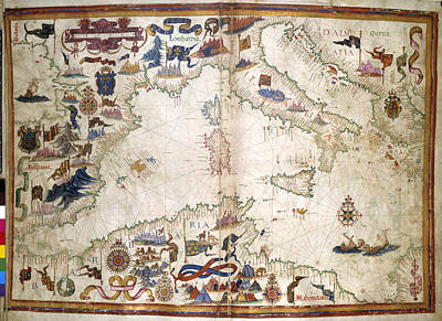 Queen Mary Atlas Art Print by British Library
