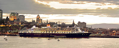 Queen Mary II Cruise Ship, Chateau Art Print by Jean Desy