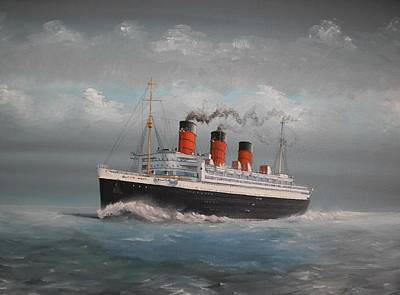 Queen Mary Art Print by James McGuinness