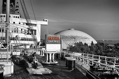 Queen Mary On Deck Art Print by Mariola Bitner