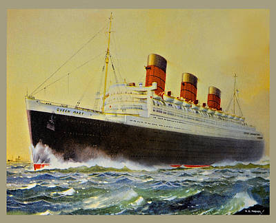 Queen Mary Postcard Print by Susan Leggett