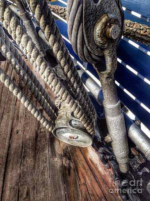 Photograph - Queen Mary Ship Turnbuckle by Susan Garren