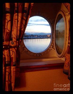 Photograph - Queen Mary Starboard Port View by Susan Garren