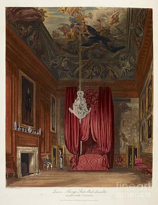 Queen Mary's Bed Chamber, Hampton Court Art Print