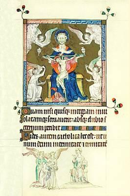 Queen Marys Psalter Trinity Art Print