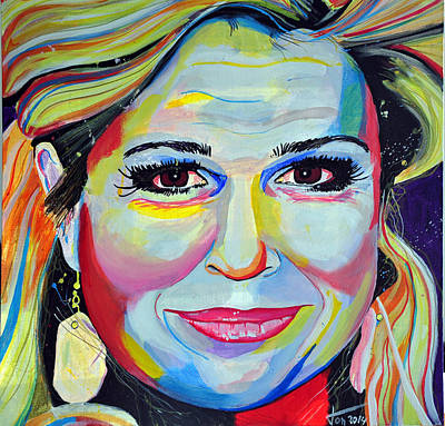 Nederland Painting - Queen Maxima by Ton Peelen