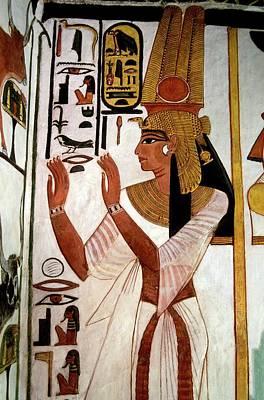 Mural Photograph - Queen Nefertari by Patrick Landmann/science Photo Library