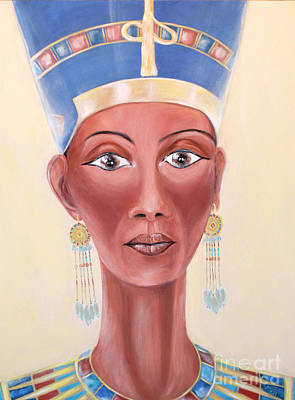 Painting - Queen Nefertiti. Original Acrylic Painting. by Oksana Semenchenko