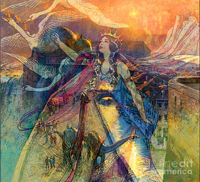 Queen Of Chronos Art Print by Tammera Malicki-Wong