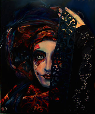 Painting - Queen Of Darkness by Em Kotoul