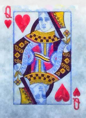 Queen Of Hearts Art Print by Dan Sproul
