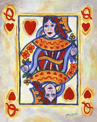 Queen Of Hearts Painting - Queen Of Hearts by Linda Mears