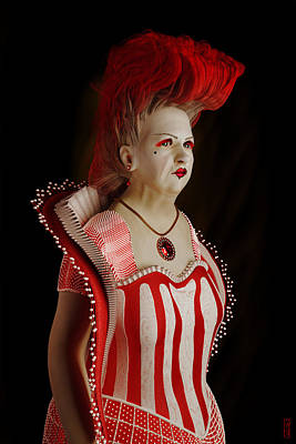 Digital Art - Queen Of Hearts by Matt Lindley