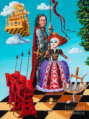 Queen Of Hearts. Part 1 Art Print by Igor Postash