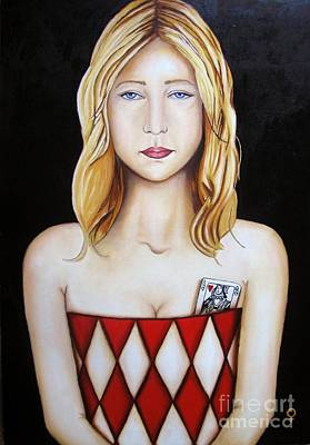 Painter Mixed Media - Queen Of Hearts by Venus