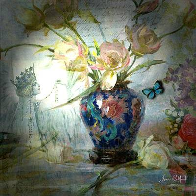 Flower Digital Art - Queen Of My Heart by Laura Botsford