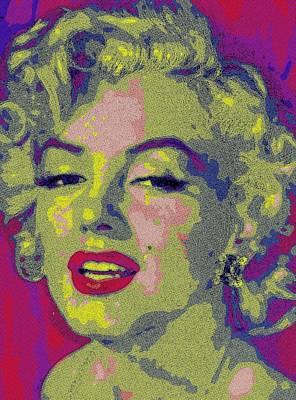 Marilyn Painting - Queen Of Pop Art by Florian Rodarte