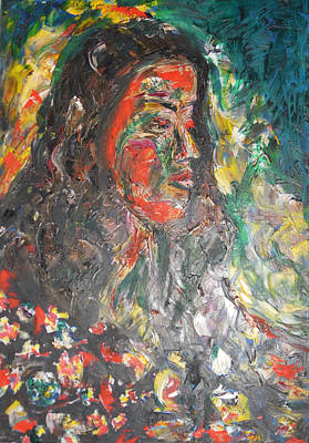 Metal Sheet Painting - Queen Of Sheba by Esther Newman-Cohen