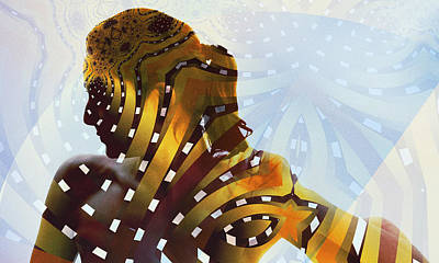 Digital Art - Queen Of Sheba by Kiki Art